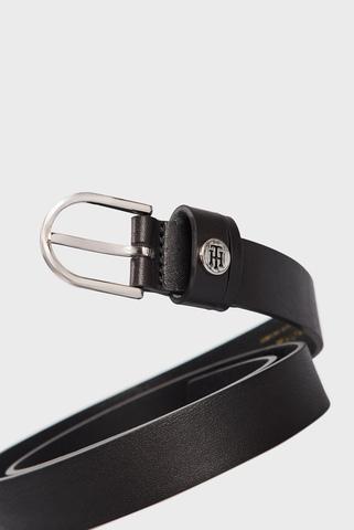 Женский черный кожаный ремень CLASSIC BELT 2.5 Tommy Hilfiger