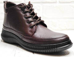 Коричневые ботинки женские спортивный стиль Evromoda 535-2010 S.A. Dark Brown.