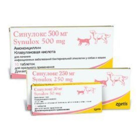Синулокс таблетки 250 мг (10 табл)