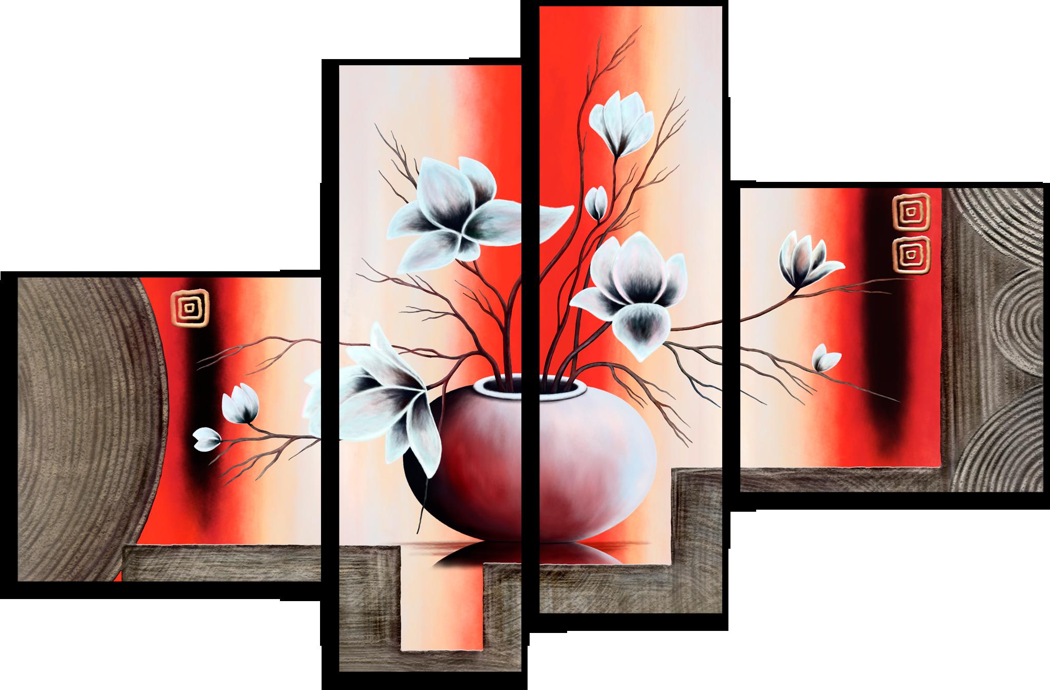 "Модульные картины Модульная картина ""Красная ваза"" М118.png"