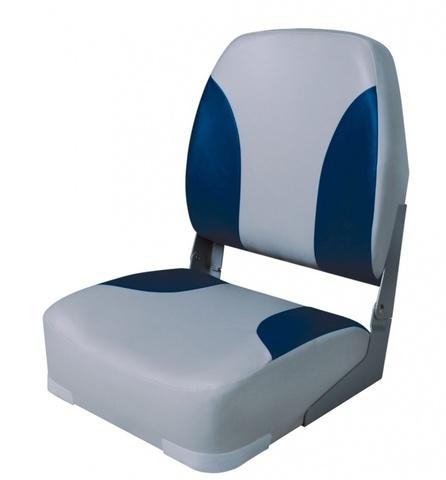 Поворотное кресло Classic High Back - Серый/Синий