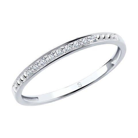 1011807 - Кольцо из белого золота с бриллиантами
