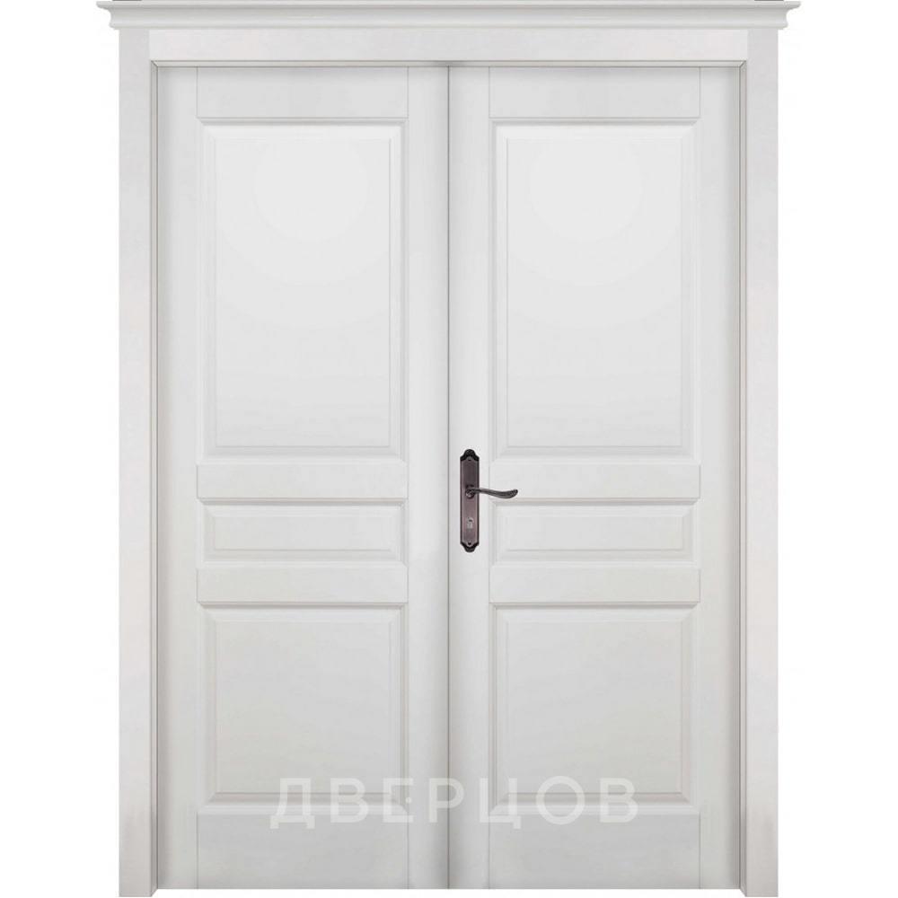 Двустворчатые двери Межкомнатная распашная двустворчатая дверь массив ольхи ОКА Валенсия белая эмаль глухая venecia-belayadr-min.jpg
