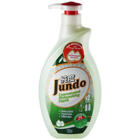 Конц. средство для мытья посуды зел. чай имята 1 л Jundo