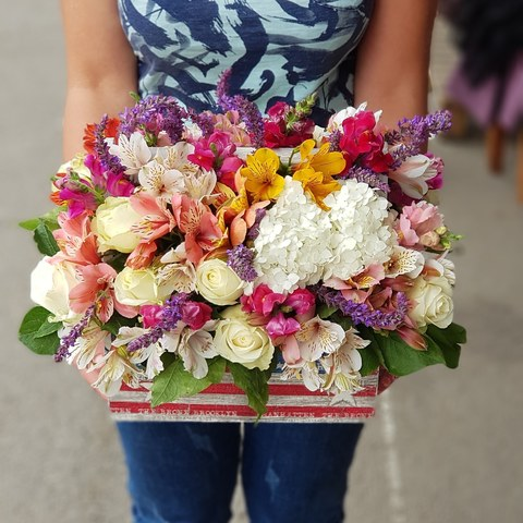 Ящик с цветами Июнь 6