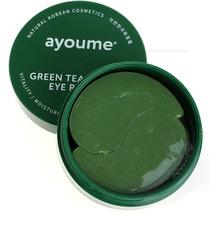 Гидрогелевые патчи для глаз Ayoume от отечности с экстрактом зеленого чая иалоэ 60 шт