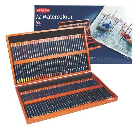 Набор из 72 акварельных карандашей Derwent Watercolour в деревянной коробке