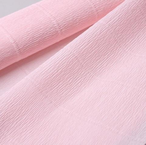 Бумага гофрированная, цвет 569 бело-розовый, 180г, 50х250 см, Cartotecnica Rossi (Италия)