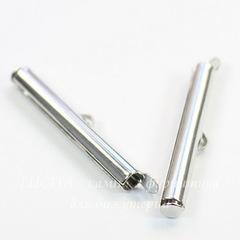 Концевик - трубочка 30х4 мм (цвет - платина), 2 штуки