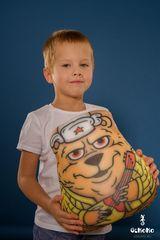 Подушка-игрушка антистресс Gekoko «Медведь с балалайкой» 1