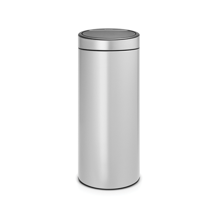 Мусорный бак Touch Bin New (30 л), Серый металлик, арт. 115387 - фото 1