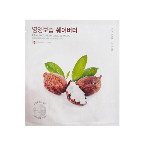 Nature Republic Real Nature Shea Butter Hydrogel Mask маска для лица гидрогелевая с маслом Ши