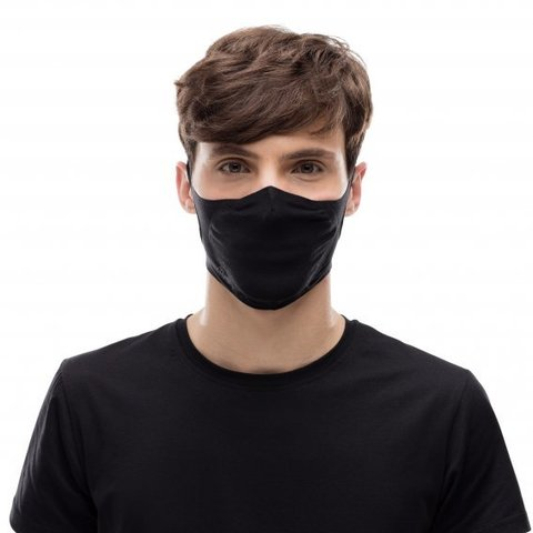 Маска защитная Buff Mask Solid Black фото 2