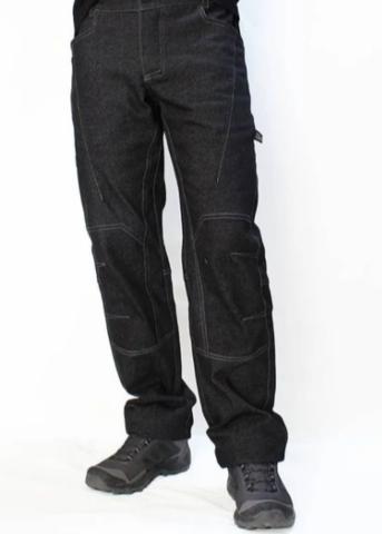 Брюки для скалолазания Hi-Gears Mega Bould+ 4 Season black jeans (черные джинсы)