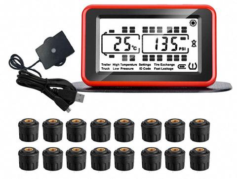 Система контроля давления в шинах TP934SE с внешними датчиками для грузовиков с прицепом (до 34 колес)
