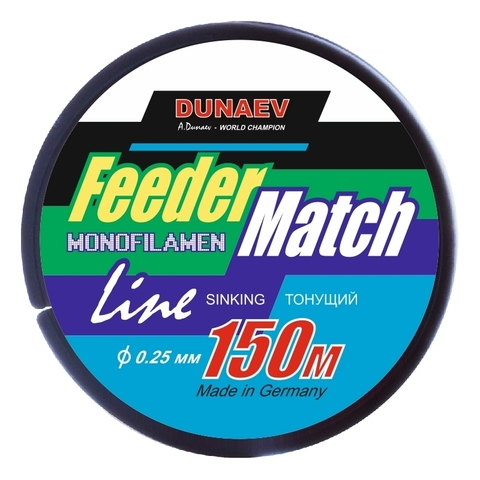 Леска Dunaev Feeder-Match Sinking Black 0.25мм 150м