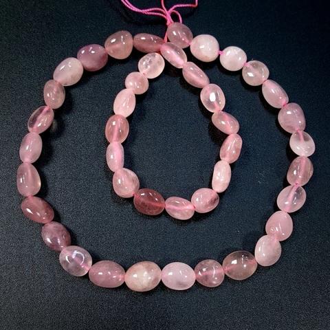 Розовый кварц Мадагаскар произвольная форма 8-10 мм