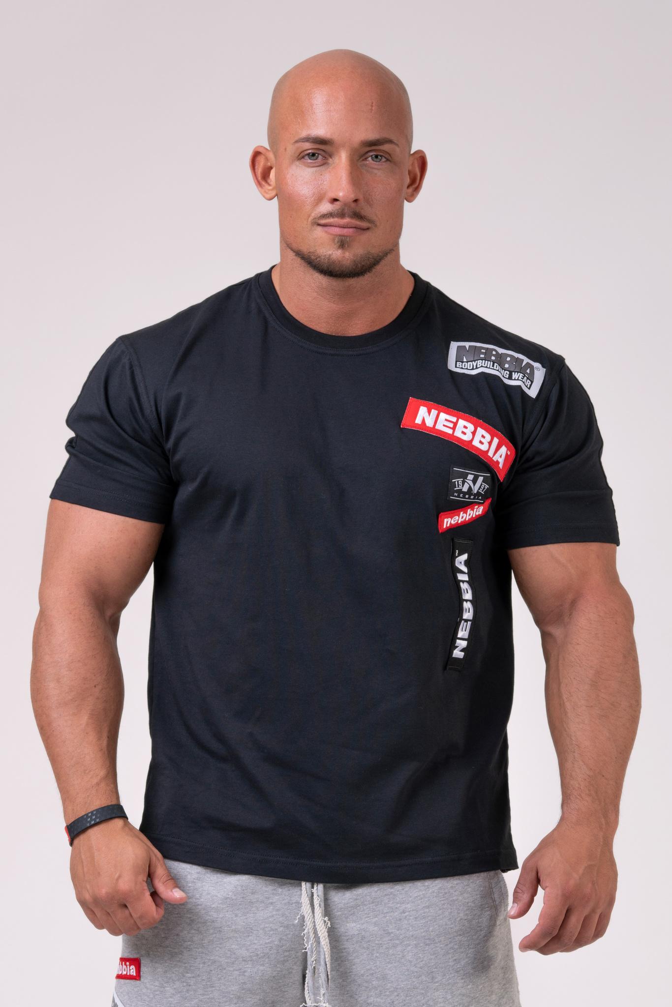 Мужская футболка Nebbia Labels T-shirt 171 black