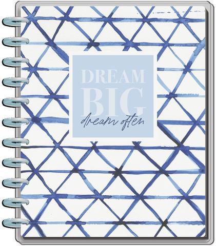 Блокнот  BIG Happy Notes™-21,5х28см- Indigo Tie Dye-60 л