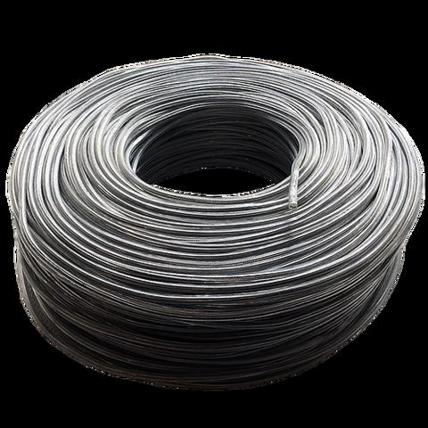 Круглый лофт провод в силиконовой оплетке (Прозрачный)