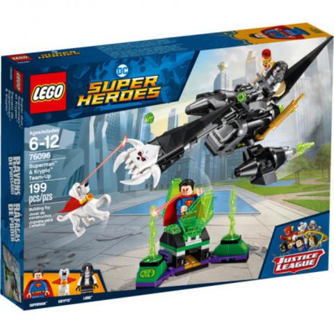 Lego konstruktor Super Heroes Супермен и Крипто объединяют усилия 76096