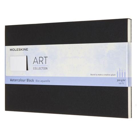 Блокнот для акварели Moleskine ART WATERCOLOR ARTWBL3 Large 130х210мм 72стр. нелинованный мягкая обложка черный