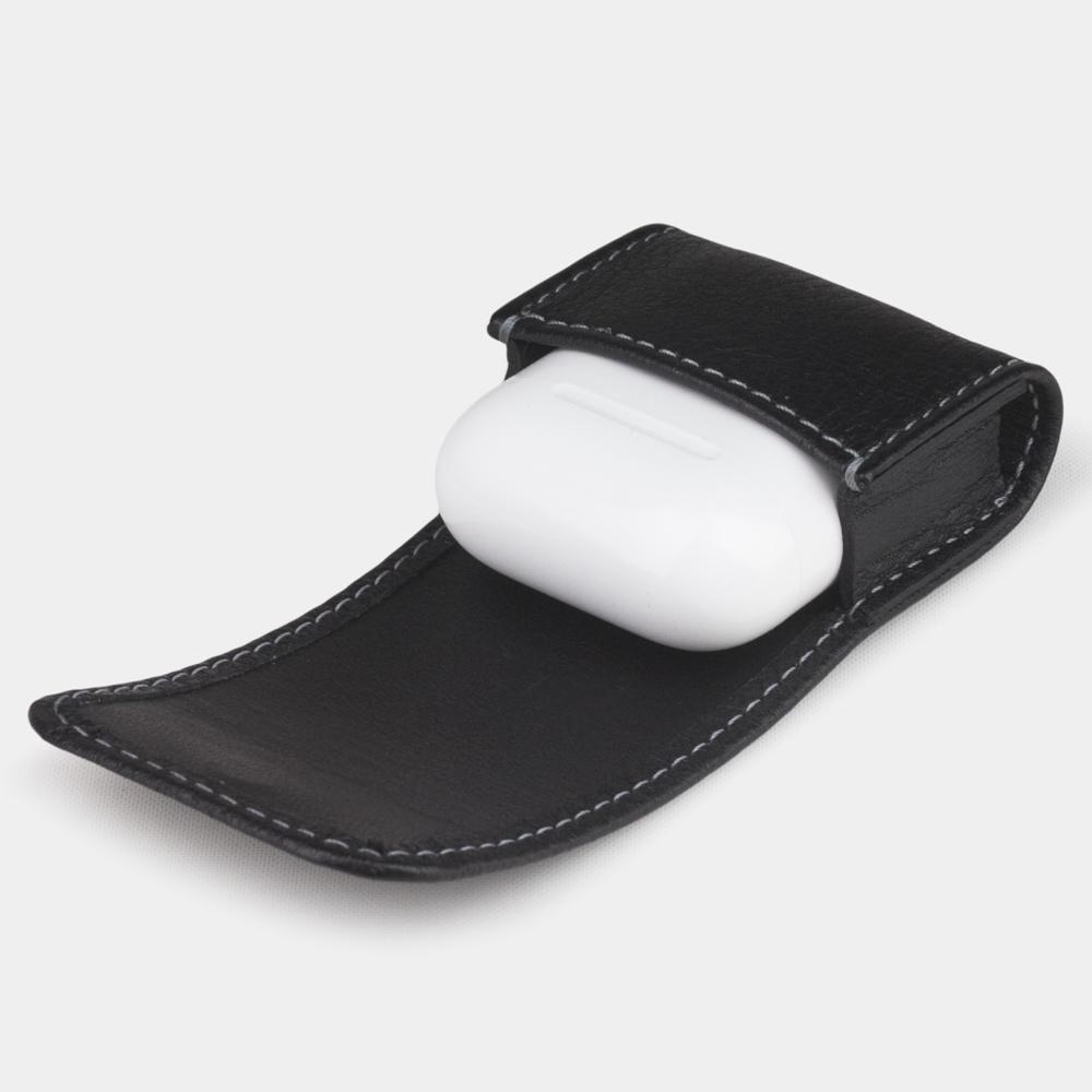 Чехол-держатель для наушников Petit Easy из натуральной кожи теленка, черного цвета