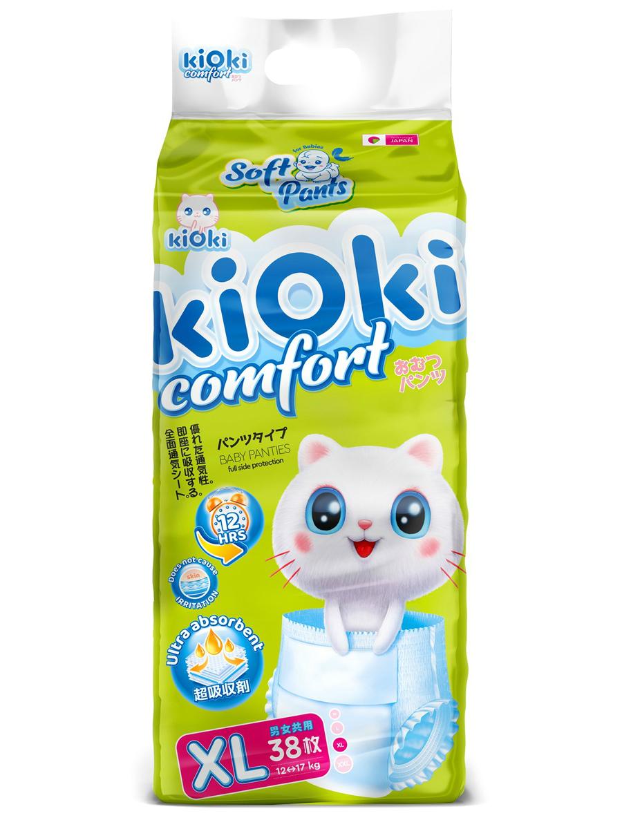 kiOki Детские подгузники-трусики COMFORT SOFT XL (12-16 кг) 38 шт