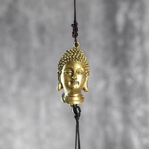 Музыка ветра Будда, металл, 3 колокола, 71*7*7 см