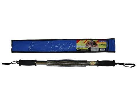 Эспандер - палка нагрузка 50 кг. (хромированный металл, пластиковые ручки) D1250
