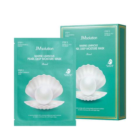 JMsolution Маска трехшаговая с жемчужной пудрой JMsolution Marine Luminous Pearl Deep Moisture Mask Pearl