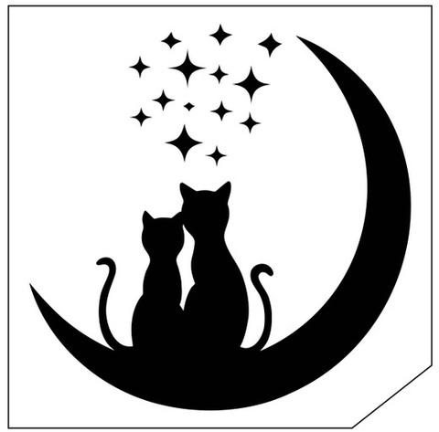 Трафарет для блеск-тату 6*6 кошка 94К