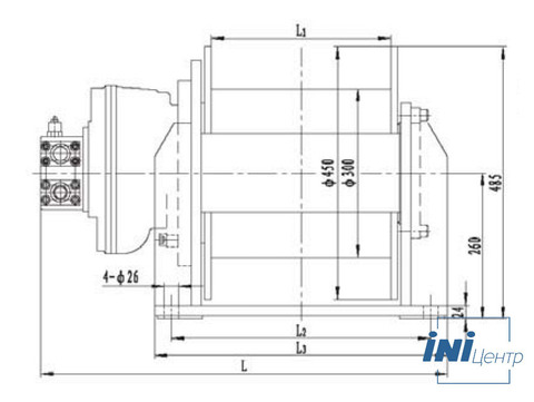Стандартная лебедка IYJ3-42-108-18-ZP