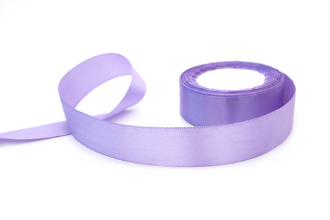 Лента атласная,2,5 см, фиолетовый