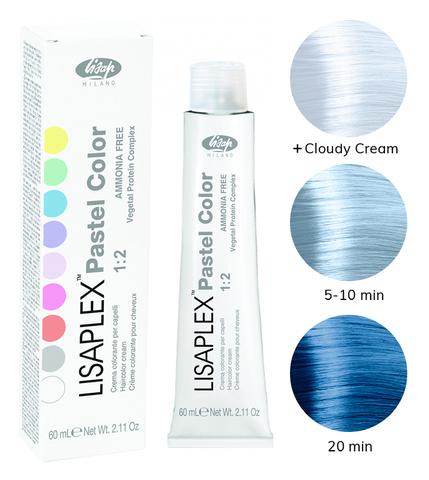 Оттенок Blue Sky Синее небо Крем-краситель для волос Lisaplex Pastel Color 60мл
