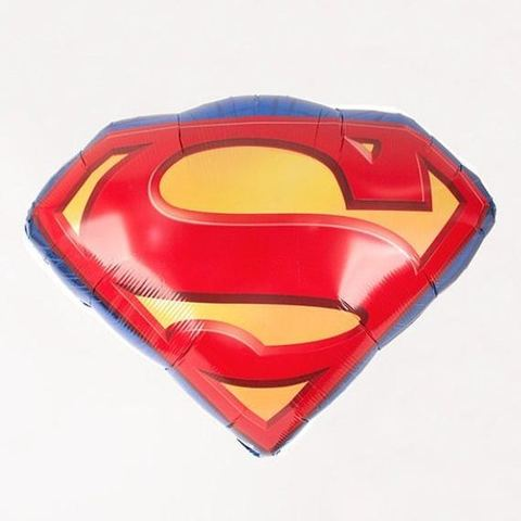 Фольгированный шар «Эмблема Супермен»,  66 см