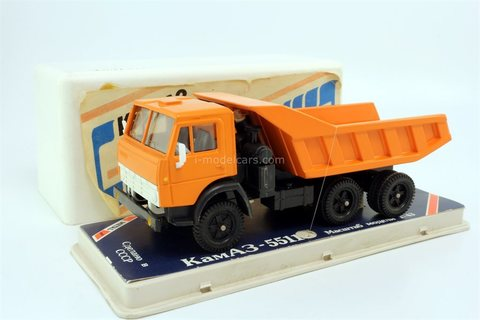 KAMAZ-5511 orange (plastic box) 1989 Elecon Arek Made in USSR 1:43