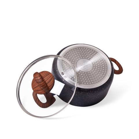 4348 FISSMAN Black Cosmic Набор посуды 6 пр. с антипригарным покрытием,  купить