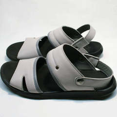 Кожаные босоножки сандали мужские Ikoc 3294-3 Gray.