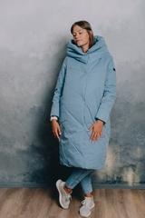 Пальто женское зимнее голубой