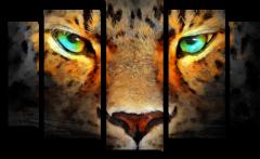 "Модульная картина ""Глаза тигра"""
