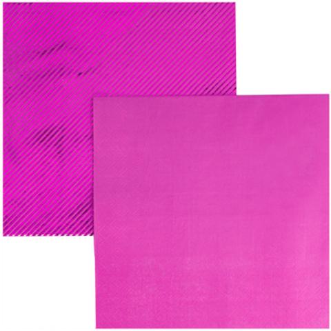 Салфетки блестящие ярко-розовые 6 штук