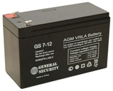 Аккумулятор General Security GS 7,2-12 ( GS12-7.2 ) ( 12V 7,2Ah / 12В 7,2Ач ) - фотография
