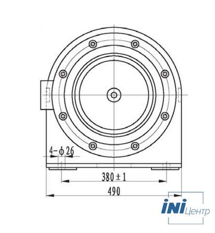 Компактная электрическая лебедка IDJ23-40-120-15.5 (14.5)
