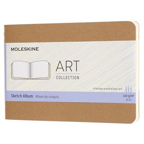 Блокнот для рисования Moleskine ART CAHIER SKETCH ALBUM ARTSKA2P3 Pocket 90x140мм обложка картон 88стр. бежевый