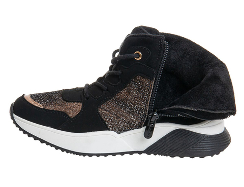 Ботинки спортивный гламур Сказка, черный (32-37) (ТК Луч)