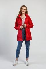 Ветровка-плащ женская красный