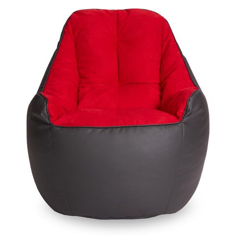 Бескаркасное кресло «Босс»,  Графит и красный