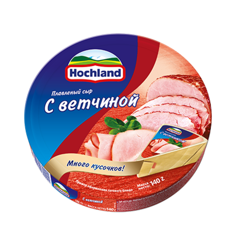 Сыр плавленный Hochland с ветчиной 140г