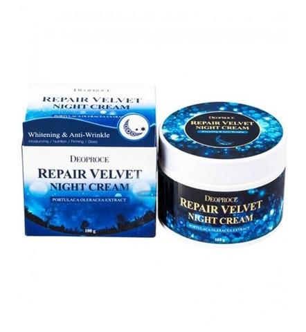 Deoproce Крем для лица ночной восстанавливающий Moisture Repair Velvet Night Cream, 100 гр